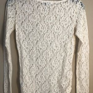 French Connection cream lace shirt